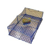 WILSON HEAVY DUTY RECTANGULAR CRAB TRAPS - 2 ENTRY CRAB POTS - BLUE MESH
