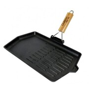 Outdoor Connection Cast Iron Rectangular Grill Frypan
