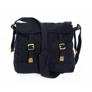Huss Web Haversack Large Shoulder Bag Black WH-1