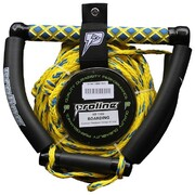 Proline Kneeboard Handle and 3 Section Rope (Hook compatible) - Yellow