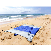 LAZI-PRO BEACH BLANKET LARGE 220cm x  180cm - Grey/Blue
