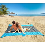 LAZI-PRO BEACH BLANKET XLARGE 285cm x  240cm - Grey/Light Blue