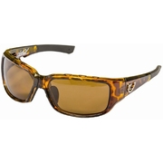 Mustad Hank Parker Polarized Sunglasses-Tortoise Hard Frame  with Eye Ventilation, Amber Lens-MHP102A03
