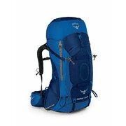 OSPREY AETHER AG™ 70 WITH RAINCOVER BACKPACKING MOUNTAINEERING PACK LARGE - NEPTUNE BLUE