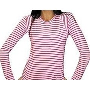 XTM KIDS POLYPRO LONG SLEEVED TOP PINK STRIPE SIZE 8 THERMAL BASE LAYER