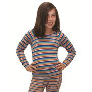 XTM KIDS POLYPRO LONG SLEEVED TOP RAINBOW SIZE 2 THERMAL BASE LAYER