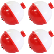 "Sure Catch Red and White Round Plastic Float 1 1/2"" (4 Pack)"
