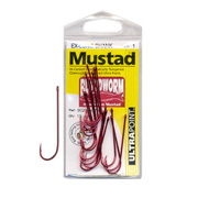 Mustad  Bloodworm Hook Pack Red Size 3/0, 9pc