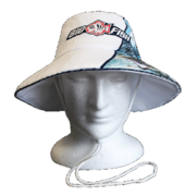 BIGFISH ESTUARY WIDE BRIM FISHING HAT LGE/XL - WHITE