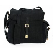 HUSS WEB HAVAERSACK SHOULDER BAG BLACK WH-3