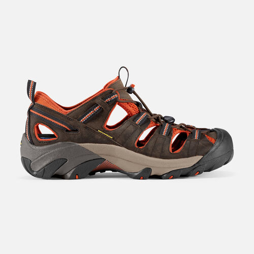Keen Mens Arroyo II Leather Sandle - Black Olive/Bombay Brown