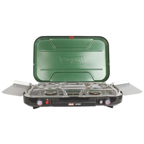 Coleman 3 Burner Eventemp Stove With Griddle Plate | Free Shipping