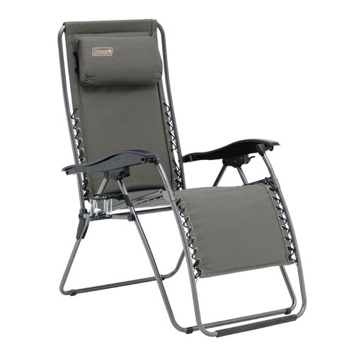 Coleman Layback Lounger Chair - Charcoal Grey