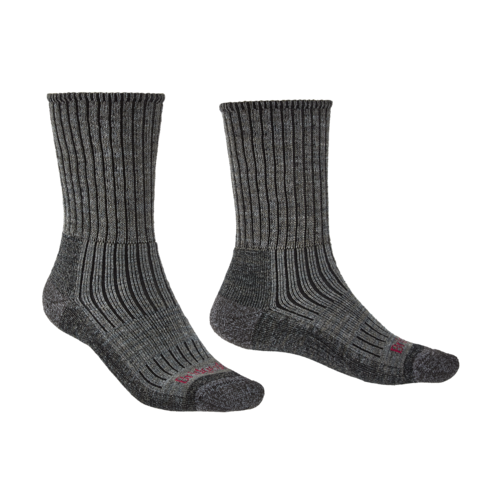 Bridgedale Hike Midweight Boot Merino Comfort Mens Sock - Charcoal