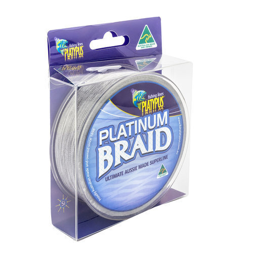 Platypus Platinum Braid 125Yds X 15Ib, Gunmetal Grey