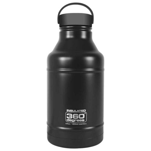 360 Degrees Growler 1800ml Water Bottle - Black