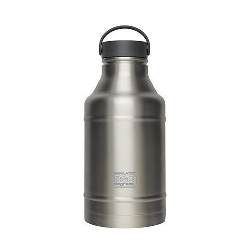 360 Degrees Growler 1800ml Water Bottle - Steel