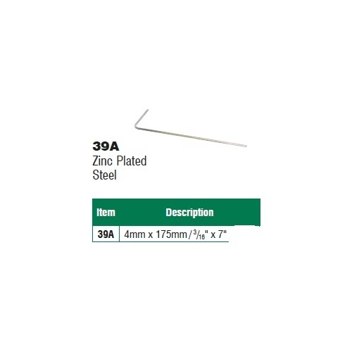Supex Zinc Steel Peg 39A 4mm x 175mm