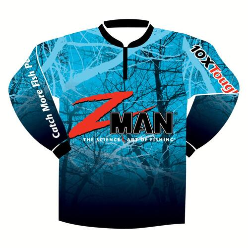 ZMan Adults Long Sleeve Tournament Fishing Shirt Blue - Large