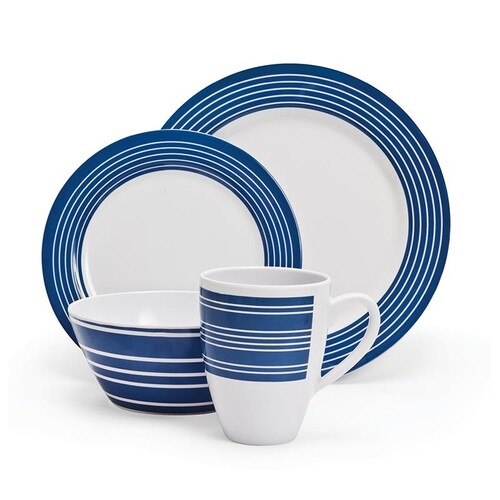 Campfire 16 Piece Melamine Dinner Set – Nautical