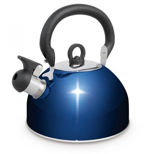 Campfire Stainless Steel Whistling Kettle 4L - Blue