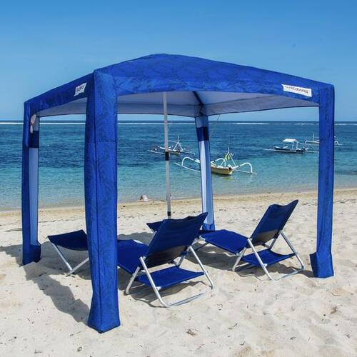 CoolCabanas Beach Shelter Large - Liku Navy Pineapples