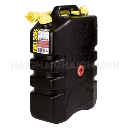 Haigh Fuel Safe 20L Black Jerry Can