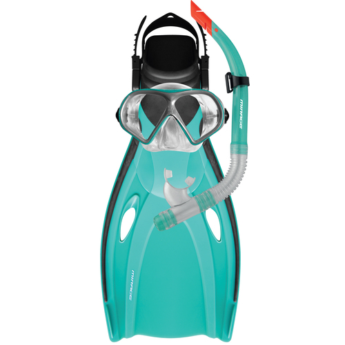 Mirage Mission Adult Mask, Snorkel & Fin Set - L/Xl