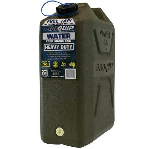 2 x Pro Quip 22L Army Style Olive Water Jerry Can