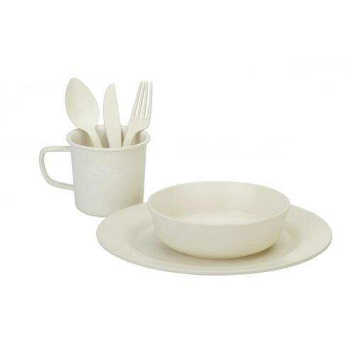 Oztrail 7 Piece Bamboo Hikers Dinner Set