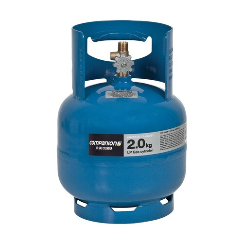 "Companion 2kg Gas Cylinders 3/8"" LH"