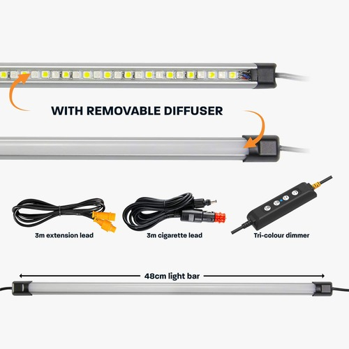 Hard Korr 48cm Super Bright White And Orange Led Light Bar - 590 Lumens