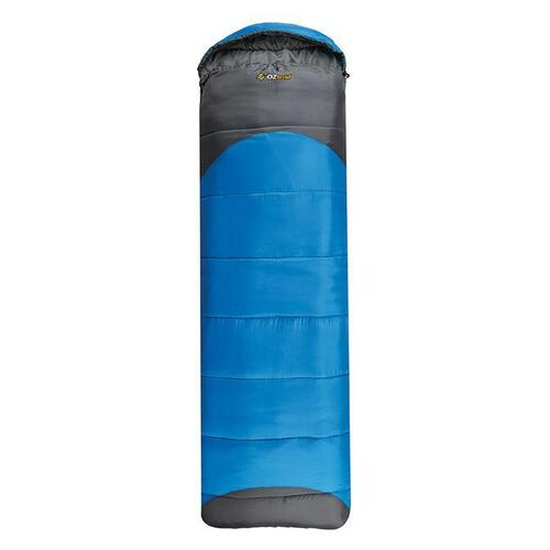 Oztrail Leichardt Jumbo Hooded 0°C Sleeping Bag - Blue