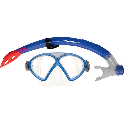 Mirage Mirage Comet Junior Silitex Mask & Snorkel Set Junior - Blue