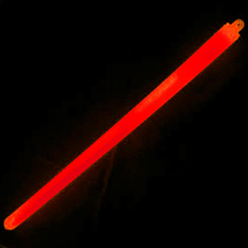 "Illumiglow 15"" Lightstick (38.1Cm) 1 Ring Military Grade Red - Single"