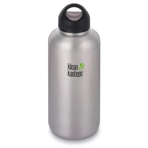 Klean Kanteen 64oz (1900ml) Wide Loop Cap Water Bottle - Brushed Stainless